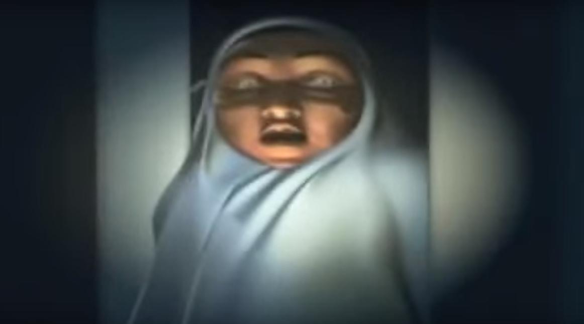 Nenek Saras menatapku dengan tajam dan tatapan mata yang putih menyeramkan!